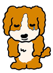 泣いている犬
